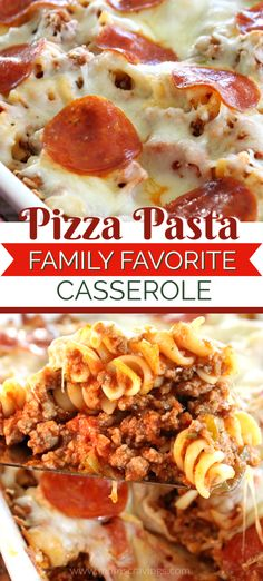 Simple Pasta Recipes, Easy Pork Chop Recipes, Pasta Dinner Recipes, Pasta Dinners, Crockpot Recipes, Cooking Recipes, Pizza Pasta Bake, Pasta Casserole, Pizza Caserole