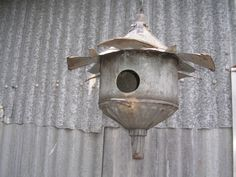Great repurposed birdhouse
