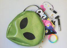 HANDMADE Glitter Alien Mini Backpack by sorcery on Etsy, $125.00