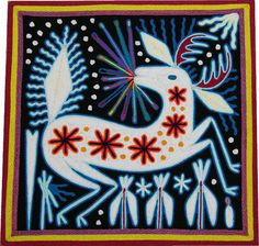 This yarn painting was done in the village of Eligo Carrillo Vicente.