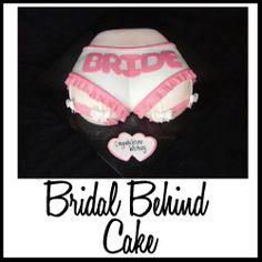 Cute cake for bridal shower, bachelorette party, lingerie themed shower