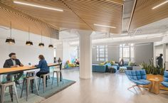 Ideas Corporate Office Lighting Ceilings San Francisco For 2019 Staff Lounge, Office Lounge, Teacher Lounge, Window Treatments Living Room, Living Room Windows, Lounge Design, Corporate Interiors, Office Interiors, Ikea Small Spaces