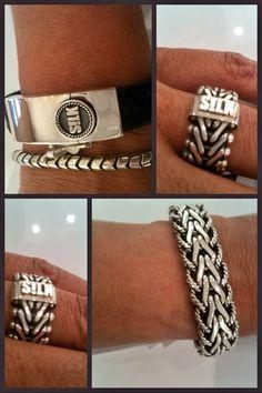 http://www.quickjewels.nl/silk-sieraden Stoere zilveren sieraden van S!LK Jewellery. Leder gecombineerd met een robuuste zilveren sluiting.