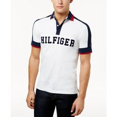 Tommy Hilfiger Men's Custom-Fit Jessie Polo ($35) ❤ liked on Polyvore featuring men's fashion, men's clothing, men's shirts, men's polos, snow white, big tall mens shirts, mens sport shirts, mens sports shirts, mens big and tall polo shirts and mens sports polo shirts