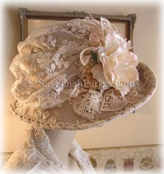 Edwardian/1920s Gatsby lace and silk hat by savannahparker.com