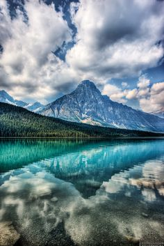 Mount Chephren and Waterfowl Lake in Banff National Park, Alberta, Canada