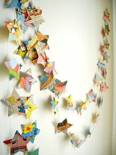 CLICK TO SEE: Vintage idea's for children's bedrooms #vintage #bunting #simple #cheap #ideas #retro #comicbunting #paperbunting #craft