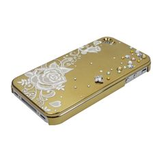Gold Lace Rose,Butterfly Stone for iPhone4/4S