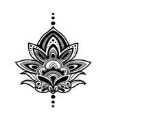 "Our Henna Lotus Temporary Tattoo features the classic lotus flower design. This custom tattoo is perfect for yoga fanatics and every day use. - Tattoo Size 3.75"" x 4.5"" - 2 Tattoos Included"