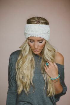 Cable Knitted Headband