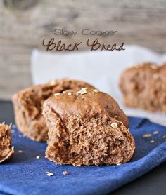 Slow Cooker Black Bread, #slowcookerrecipes, #crockpotrecipes