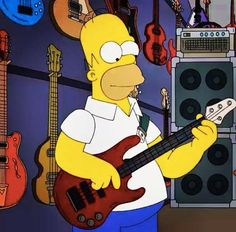 Homer Simpson plays bass!