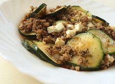 Zutaten    200 gFeta-Käse, light  400 gHackfleisch, (Rinderhack)  2 Zucchini  1 m.-große  Zwiebel(n)  1 Knoblauchzehe(n)  1 EL  ...