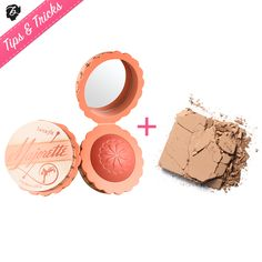 How 'bout a flirty TANtalizing mix? Boost your flush with Majorette, then dust on Hoola for sun-kissed chiseled cheeks. #tipsandtricks #benefitcosmetics