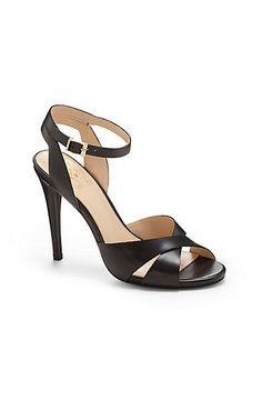 VINCE CAMUTO SOLISS- CRISSCROSS FRONT STRAP HEELED SANDAL