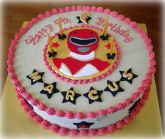 Power Rangers-themed Cake by pike.corinne, via Flickr