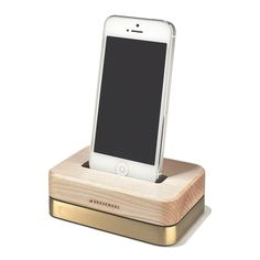 want for Christmas!!!! :) Grovemade Brass + Maple iPhone dock