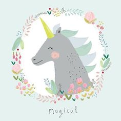 Look her shine! Close up new Magical Unicorn print in collab with @alessbaylis   Available for wholesale #petitelouisewholesale #alessbaylis #unicorn #poster #postcard #kaartjes #fairytale