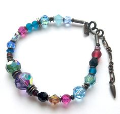 Austrian Crystal and Czech Glass Bracelet by Owenglasscollection