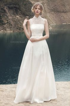 Wedding Dress from Mikado and Chantilly Lace by CoconBridal