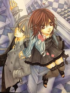 Find images and videos about anime, manga and vampire knight on We Heart It - the app to get lost in what you love. Vampire Knight Zero, Vampire Boy, Yuki And Kaname, Yuki And Zero, Matsuri Hino, Zero Kiryu, Knight Art, Gothic Anime, Anime Oc