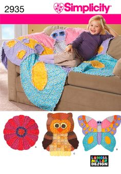 Childs Rag Quilt Pattern Butterfly Rag Quilt Pattern by blue510, $4.00