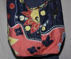 Denim Oversize Shoulder Bag Vintage Southwest Applique  & Silver Charms Repurposed Jacket on Etsy, $49.00 #hipster #country #cowgirl #cowboy #southwest #eclectic #bohochic #desertstyle #vintagesouthwest #vintage #silverbuttons #cactus