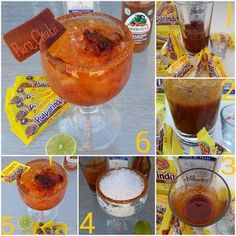 """ How to make tequila cocktail Pulparindo. #puro_chukii  Como hacer el cocktail pulparindo cocktail espero y te sirvan estas fotos.."""
