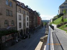 Ein grandioser Blick Richtung Neckarbrücke