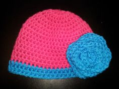 Ready to Ship Crochet Infant Hat with Flower by Christyscornerx3, $16.00