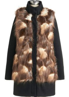 faux fur coat looks like an animal with mange
