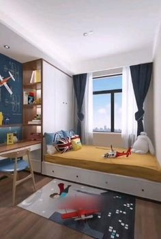 Children bedroom decor Children bedroom decor and room design for two children are an important element of creating functional and comfortable home for your Bedroom Bed Design, Design Living Room, Small Bedroom Designs, Small Room Bedroom, Home Decor Bedroom, Boys Bedroom Ideas Teenagers Small Spaces, Rooms For Boys, Small Attic Bedrooms, Small Childrens Bedroom Ideas