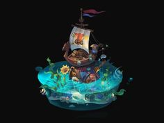 ArtStation - Welcome to my house, Erin Lin Environment Painting, Environment Concept Art, Game Environment, Prop Design, Game Design, Maya Modeling, Casual Art, 2d Game Art, Isometric Art