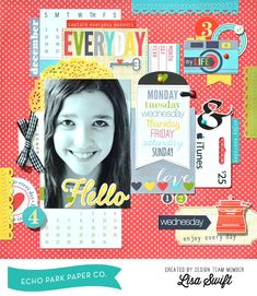 Capture Everyday Moments - Scrapbook.com Love the bright colors on this layout made with Echo Park paper.