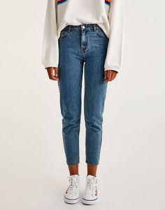 Mom fit jeans - Jeans - Denim - HIDDEN - PULL&BEAR Finland