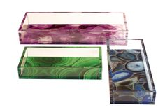 Lucite Trays Transitional, MidCentury Modern, Acrylic, Tray by Dwm Maloos Casa Atrium, Lucite Tray, Crystal Shapes, Office Accessories, Lighting Accessories, Gems And Minerals, Contemporary Furniture, Midcentury Modern, Branding Design