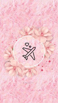27 pink flower covers - Free Highlights covers for stories Book Instagram, Instagram Frame, Story Instagram, Instagram Logo, Graphic Wallpaper, Tumblr Wallpaper, Pink Wallpaper, Wallpaper Backgrounds, Iphone Wallpaper