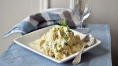 Hjemmelaget potetsalat med rømme og vårløk