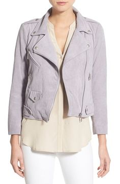 Rebecca Minkoff 'Wes' Crop Suede Moto Jacket available at #Nordstrom