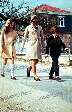 1216-Jacqueline Kennedy Onassis with Children Caroline and John Jr.