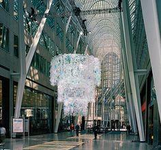 plastic chandelier by katharine harvey