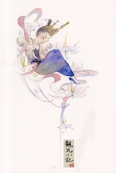 Art by MaoJunDaBai,猫君大白,Chinese Painting,China Chinese Artwork, Chinese Drawings, Chinese Painting, Art Sketches, Art Drawings, Pencil Drawings, Indian Illustration, China Art, Sketch Painting
