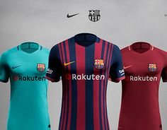 FC Barcelona shirt concept according the leaks of Footy Headlines. Barcelona Shirt, Fc Barcelona, New Work, Wetsuit, Soccer, Behance, Gallery, Check, Shirts