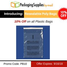 🔖 🔖🔖STILL ON SALE !!! 👇👇👇👇👇 🔥Newly Added #Resealable #Poly #Bags with Suffocation Warnings.🛍️ Use code: PB10 🛍️ Offer Expires 9/16/2018 Shop Now: https://www.packagingsuppliesbymail.com/ #Packaging #Shipping #Plastic #FreeShipping #Coupon #Packers #NewProduct #Reclosable #Bags