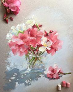 """2,435 Me gusta, 17 comentarios - Elena (@lenokdih) en Instagram: """"Отпуск наш продолжается, погода только радует, поэтому рисовать совсем нет никакой возможности…"""" Soft Pastel Art, Chalk Pastel Art, Pastel Artwork, Pastel Drawing, Chalk Pastels, Soft Pastels, Pastel Paintings, Watercolor Flowers, Watercolor Art"""