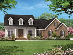 ePlans Traditional House Plan– Traditional With Marvelous Master – 1500 Square Feet and 3 Bedrooms from ePlans – House Plan Code HWEPL77217