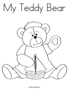 My Teddy Bear Coloring Page