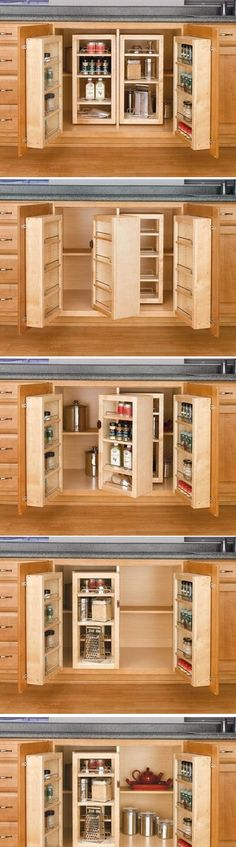 Rev-A-Shelf Natural Base Cabinet Swing Out Complete Pantry System | Craze Trend