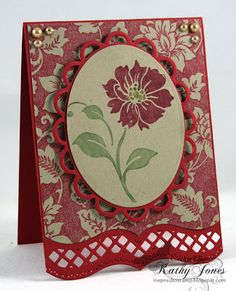 Inspired to Stamp- Kathy Jones-Secret Garden Background Stamp and Floral Thank You Stamp