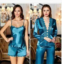 Pyjama Satin, Satin Sleepwear, Satin Pajamas, Pyjamas, Nightwear, Sewing Lingerie, Bra Lingerie, Women Lingerie, Sexy Pajamas
